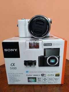 Sony A5100 Fullset Kit garansi Februari 2019