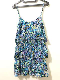 Flare Blue Summer Top