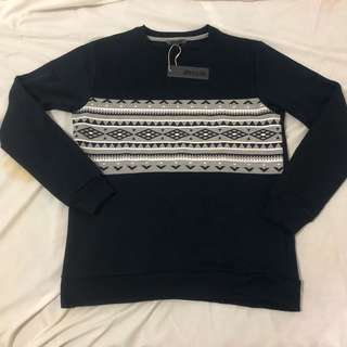 Sweater Crewneck Details Tribal