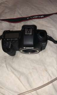 Canon digital camera and lens used with strap