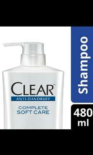 Clear shampo anti-ketombe complete softcare 480ml