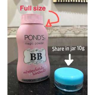 Ponds bb magic powder share in jar dan fullsize