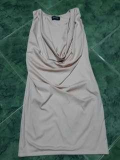Beige stretcy dress