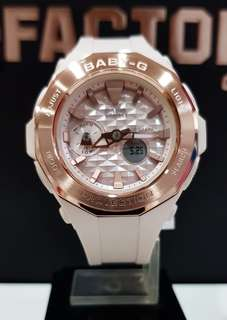 NEW🌟ARRIVAL CASIO BABYG DIVER WATCH : 1-YEAR OFFICIAL WARRANTY : 100% ORIGINALLY AUTHENTIC BABY-G stainless steel in Shock Resistant in Blossom Pink Glossy Cinderella in Rose Gold Best For Most Rough Users: BGA-225CP-4ADR / BGA-225 / BGA225 / BGA225CP