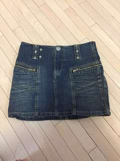 Parasuco Denim Cut Blue Jean Skirt 0