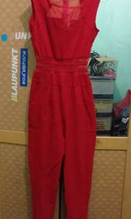 Jumsuit Red sexy