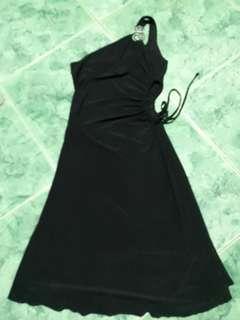 Venus cut black evening dress