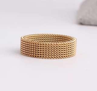 Gold Mesh Ring
