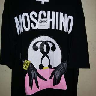 BNWT moschino milano clutch and logo jersey tshirt