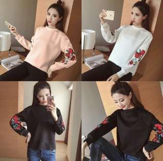 01 Rose Pullover GF 68.000 Bahan babyterry fit to L