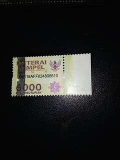Meterai 6000 stock 31biji, ambil smua free ongkir