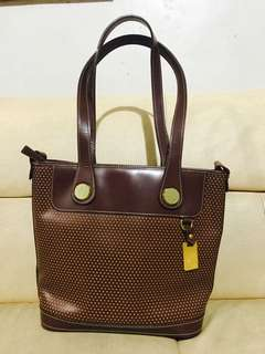 Authentic Dooney & Bourke Cabriolet Tan Perforated Leather Tote Bag