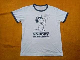 Uniqlo snoopy ring tshirt