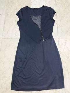PL Samlin Ladies Gray Zip Dress