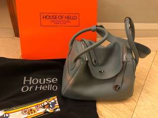 House of Hello Lindy 30 亞麻藍 全套連盒 (I'm not Hermès)