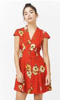 BNWT forever 21 floral mini dress size S