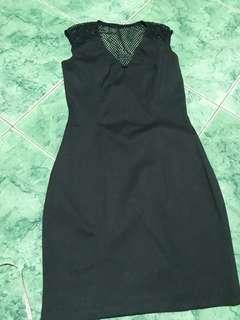 Black dress, see through back