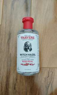 Witch hazel toner- rose petal, brand new, unopened