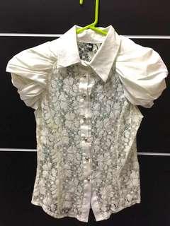Baju putih brukat elegant