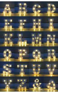 Letter led lights