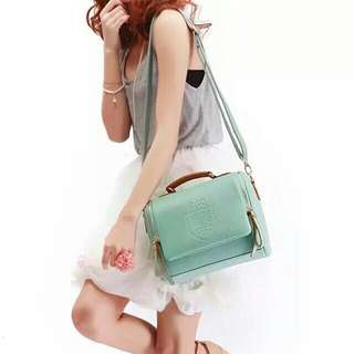 KOREAN FASHION WATER GREEN SLINGBAG