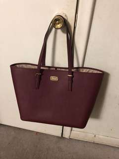 Burgundy Michael Kors tote large bag