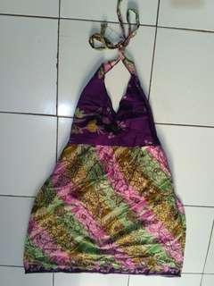Batik dress backless