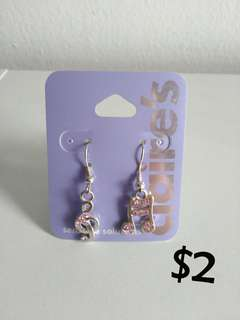Claire's Music Note Earrings