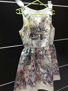 Dress kembang motif