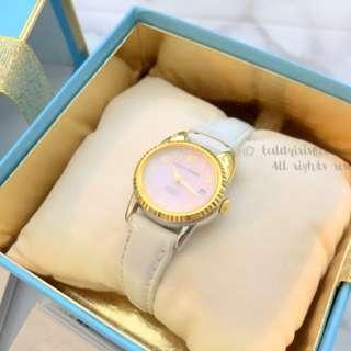 TSUMORI CHISATO White Cat Shell Leather Watch 白色手錶