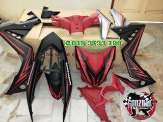 COVERSET HONDA RS150R HITAM MATTE DESIGN WINNER VIETNAM