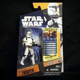 "Hasbro Star Wars SOTDS Shadow Of The Dark Side - Saga Legends - Attack of the Clones SL10 CLONE TROOPER 3.75"" (2010)"