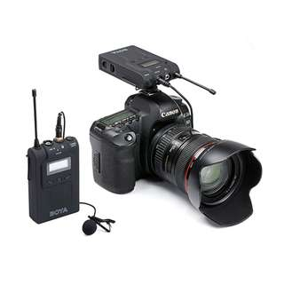 (NEW) BOYA UHF WIRELESS MIC FOR CAMERA