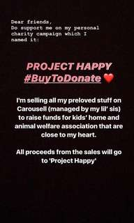 #BUYTODONATE ProjectHappy
