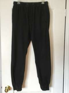 American Eagle Black drawstring pants Men's/Boys/Teens size small