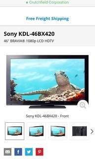 """46"""" smart tv"""