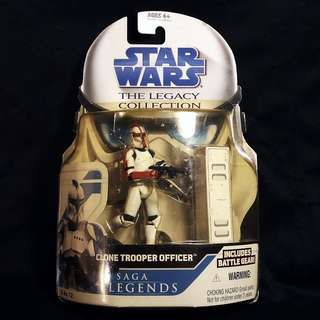 "Hasbro Star Wars TLC The Legacy Collection - Saga Legends - Attack of the Clones SL12 CLONE TROOPER OFFICER [Captain] 3.75"" (2009)"