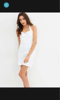 While Halter Dress Size L RRP $109