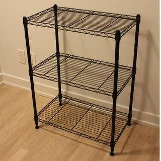 Wire shelf (3 shelves) (black)