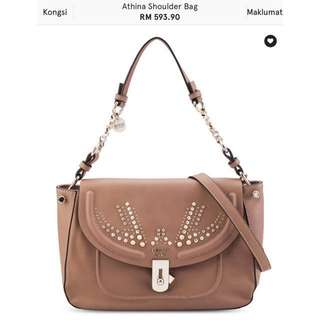 Guess studded sling shoulder bag