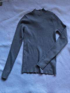 Forever New fitted grey turtleneck sweater