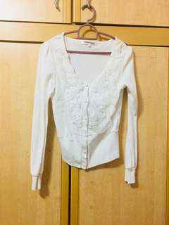 #Ramadhan50 #Sale White Short Cardigan