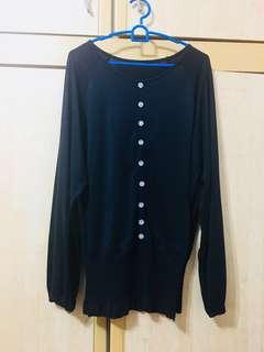 #Ramadhan50 #Sale Black Batwing-styled Blouse