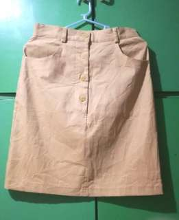 Khaki Pencil Skirt 😍