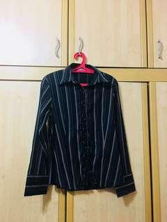 #Ramadhan50 #Sale Scarlet Stripe Collared Top