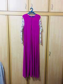 #Ramadhan50 #Sale Jubah in Purple Pink