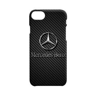 Mercedes Benz Logo On Carbon iPhone 7 - 7s Custom Hard Case