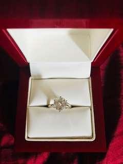 2.5CT Forever One Moissanite 18K WG ring