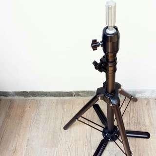 Tripod Manekin Rambut / Stand Holder / Patung Rambut