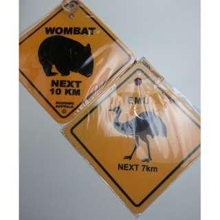 Souvenir : Australia - Car Sign (2pcs)